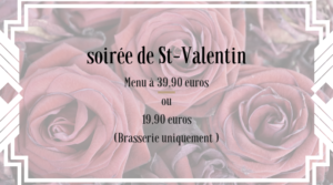 Menu Saint-Valentin 2019