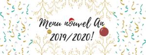 Menu du Nouvel An 2019/2020