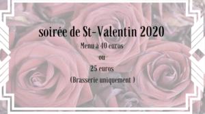 Menu de la Saint-Valentin 2020